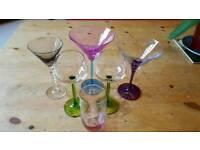 Glassware - cocktail, juice and wine