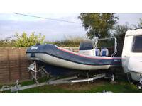 Rigid Inflatable Boat + Trailer