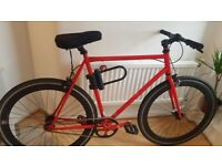 Single speed fixed gear Fixie for sale like new fully road legal.