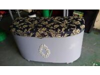 Vintage trunk chest farrow & ball painted & waxed bargain £24.99