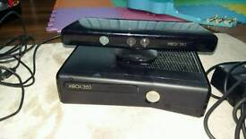 Xbox 360 kinect and 24 games