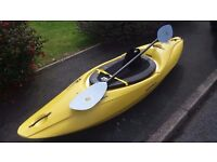 ROBSON SPORTSTER XL kayak with paddle and spraydeck