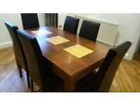 Dining Table, 6 chairs, TV Stand & Coffee Table matching, ex cond