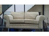 two seater cloth like new two seater brown leather