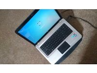 HP Pavilion dv6 + 500GB external hard drive + recovery CD's and Cooling rest. Laptop i5 320GB 8GB