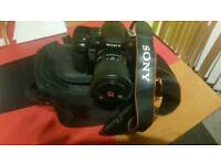 SONY A300 DSLR CAMERA WITH BAG AND CHARGER