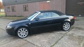 Audi A4 1.8T Sport Cabriolet Black very smart and practical convertible