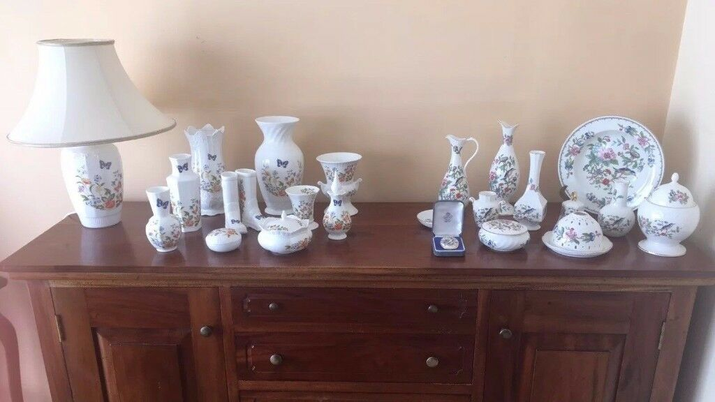 Collection of Aynsley Fine Bone China Cottage Garden & Pembroke Ornaments