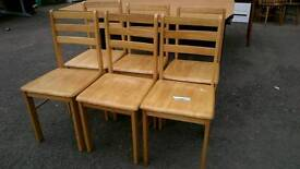6 wooden dining chairs set