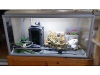 AKVASTABIL 250 LITRE AQUARIUM : ALUMINIUM FRAMES AND LID : WITH ACCESSORIES
