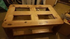 Unique solid wood coffee table