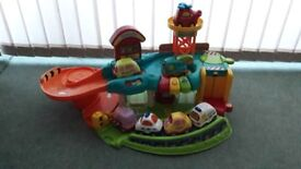 Toot Toot playsets...garage,construction site,firestation,large firetruck,various vehicles and track