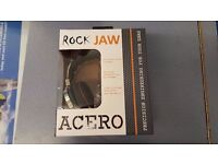ROCK JAW ACERO STAINLESS STEEL HEADPHONES BRAND NEW WITH RECEIPT