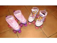 Girls roller boots two pairs to choose from