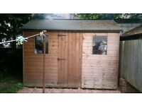 10x6 ft Superior Apex Garden Shed for sale (Used 2 ys) Urgent 300 ONO