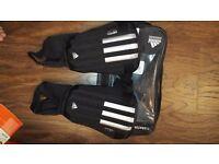 Adidas Black Shin Pads 11-Anatomic - Size Medium - wore only ONCE - £7