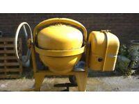 Vintage towable petrol cement mixer