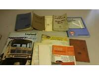 Job lot HGV mechanic books