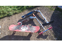 scooters and skateboardin DEREHAM £2 each