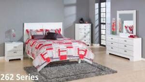 Weekend Promotion! Canadian Made, Sophisticated Style, 5 Pc Queen White Bedroom Set