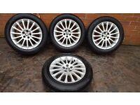 """4x GENUINE ALLOY WHEELS FIAT ALFA ROMEO 159 147 GT 16"""" 5x98 60695999 6.5J x 16"""