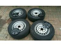 Mercedes Sprinter Volkswagen Crafter 2006 on steel wheels with tyres
