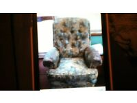 Parker Knoll. small 2 seater sofa & 2 chairs.