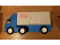 """LITTLE TIKES Large Semi Tractor Trailer HAULER TRUCK 22"""" Ride On Big Rig RARE 4 images"""