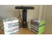 X box 360 Kinect and 24 games