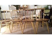 4 Beautiful Ercol Dining Chairs