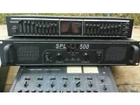Mixer, amplifier, equaliser job lot