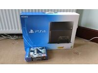 Playstation 4 PS4 Console only Boxed with leads