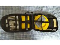Rucksack fitted out with picnic utensils