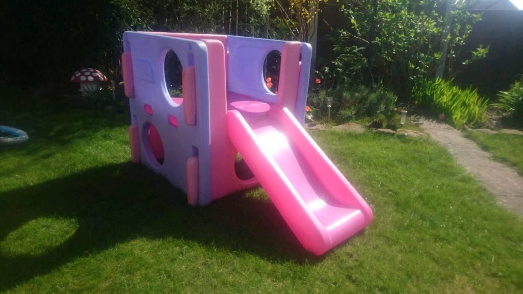 little tykes pink cube slide
