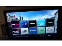 """42"""" LG Smart TV with remote working fine , slight shadow on screen"""