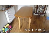 folding dining table with 2 chairs