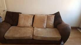 Sofa and footstool
