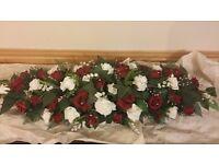 Wedding top table flower arrangement