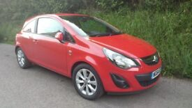 Vauxhall Corsa Excite 1.4 Petrol Red 3dr, low mileage, excellent condition