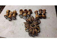 Wooden Curtain poles and fittings