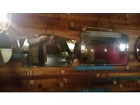 16 Stunning Vintage, antique high quality bevelled edge mirrors. Can be sold individually.