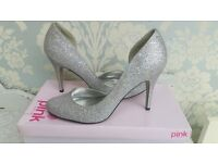Pink Paradox Bridal Shoes, Size 7 (40)