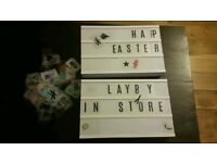 Light message box with letters x2