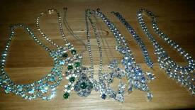 7 Vintage necklace and 1 vintage bracelet