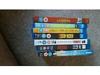 Various films on blu ray and dvd