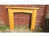 WOOD FIRE SURROUND. EXCELLENT CONDITION.