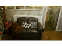 Two seater lether sofa