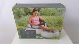 Brand New in Box Camping Garden Outdoor Indoor Inflatable Chair & Footstool