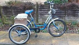 Mission Trilogy blue adult tricycle