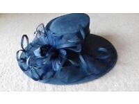 Blue hat for wedding
